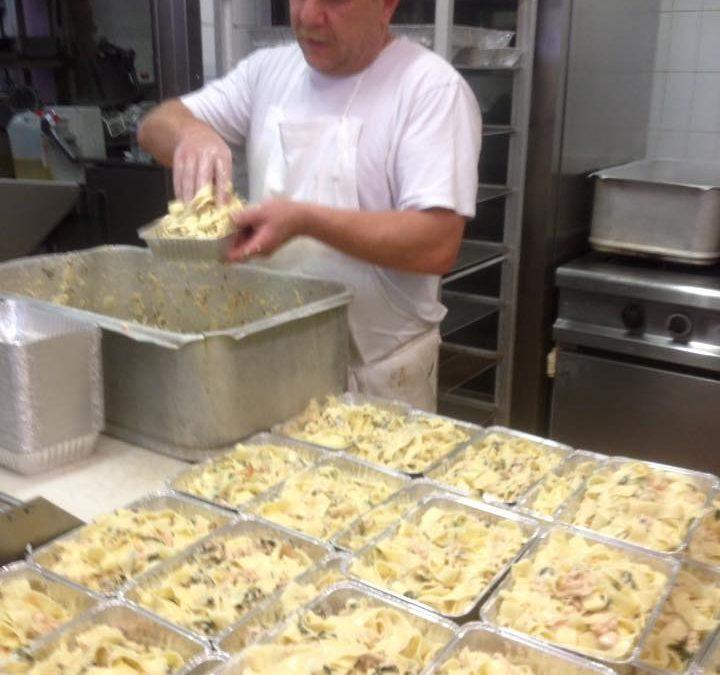 Préparation des plats du jour